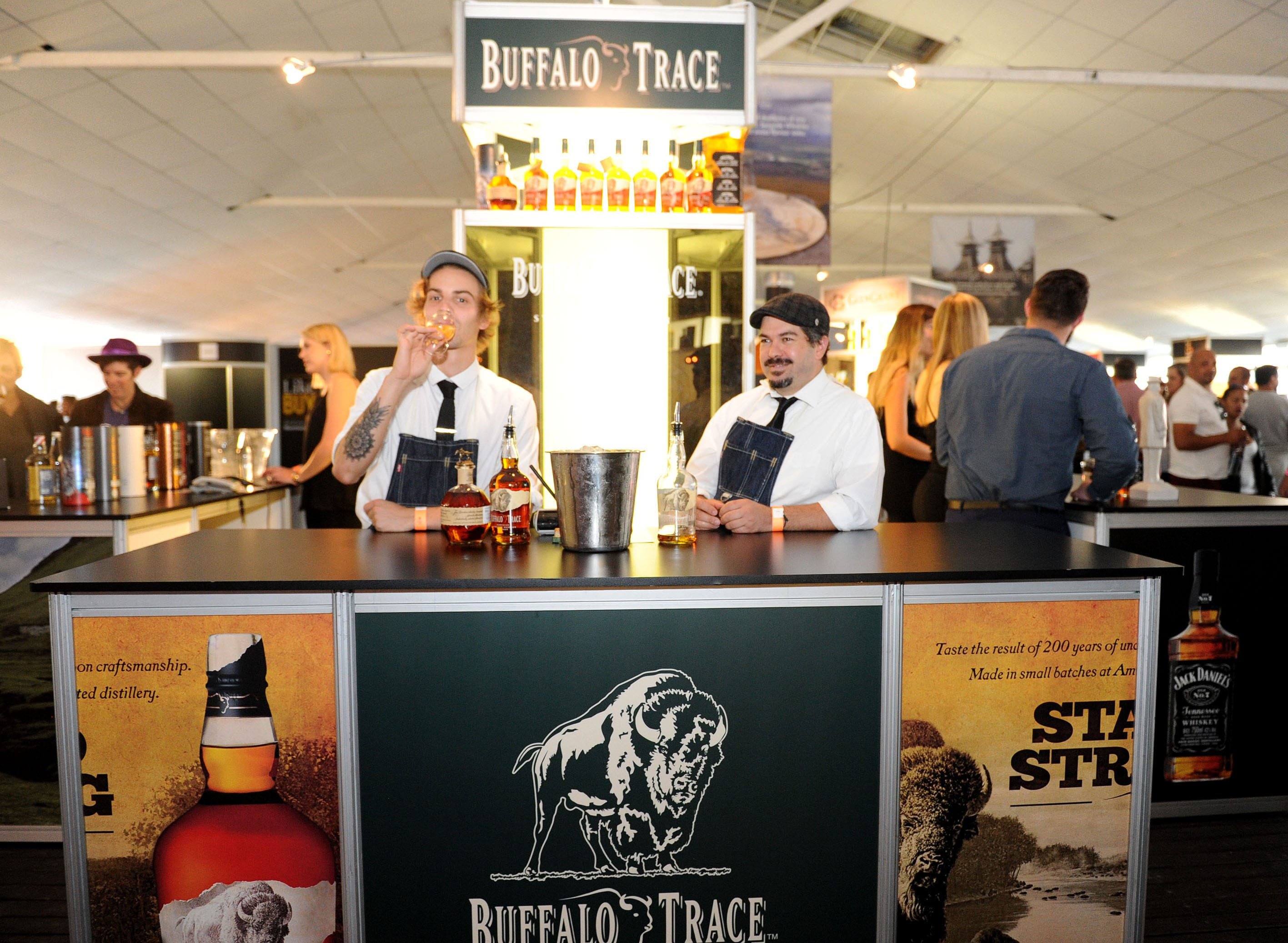"""<img alt=""""buffalo trace stand at Whisky live Festival"""">"""