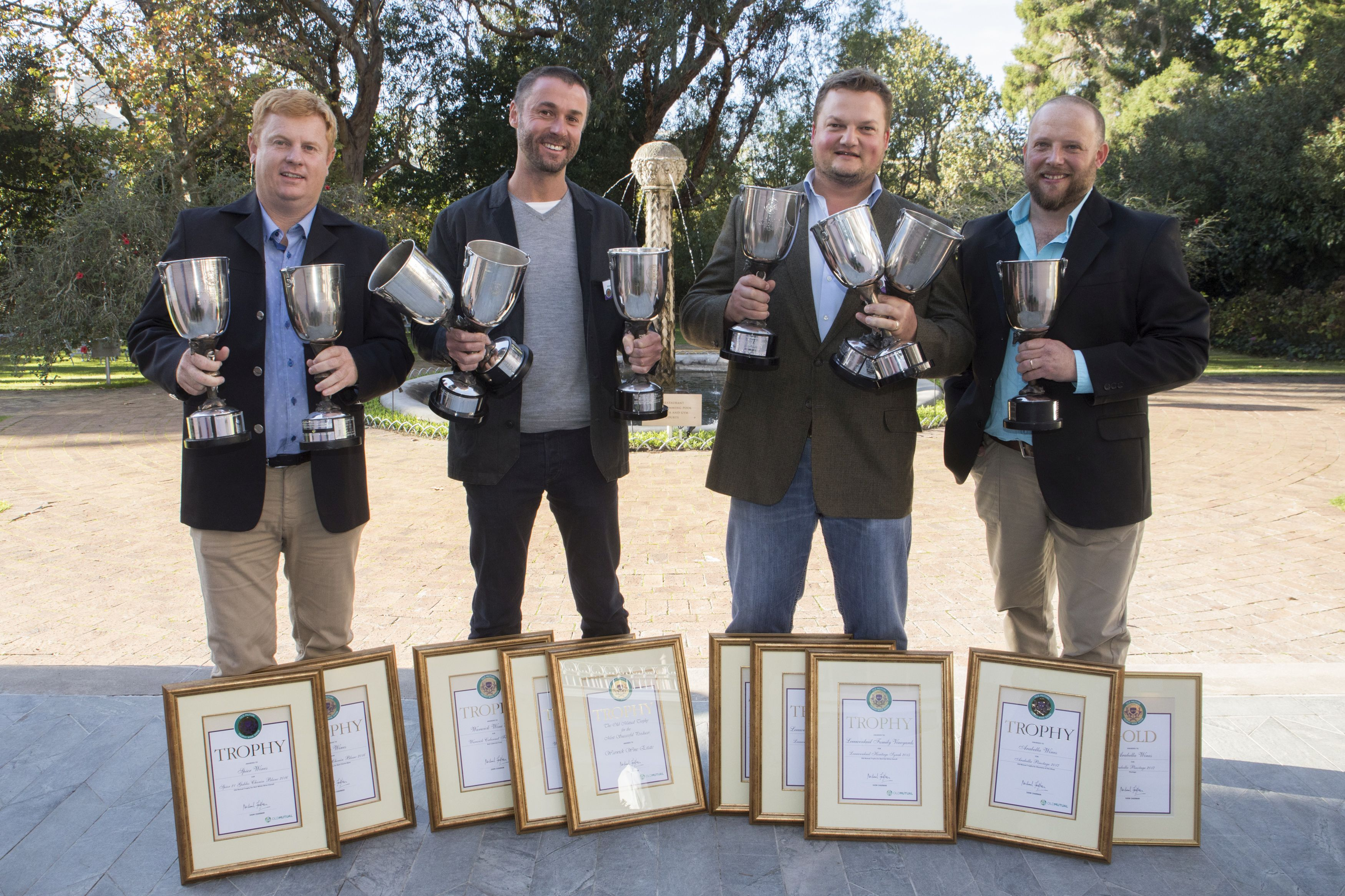"<img alt=""Group of winners at the Old Mutual Trophy Wine Show 2018"">"