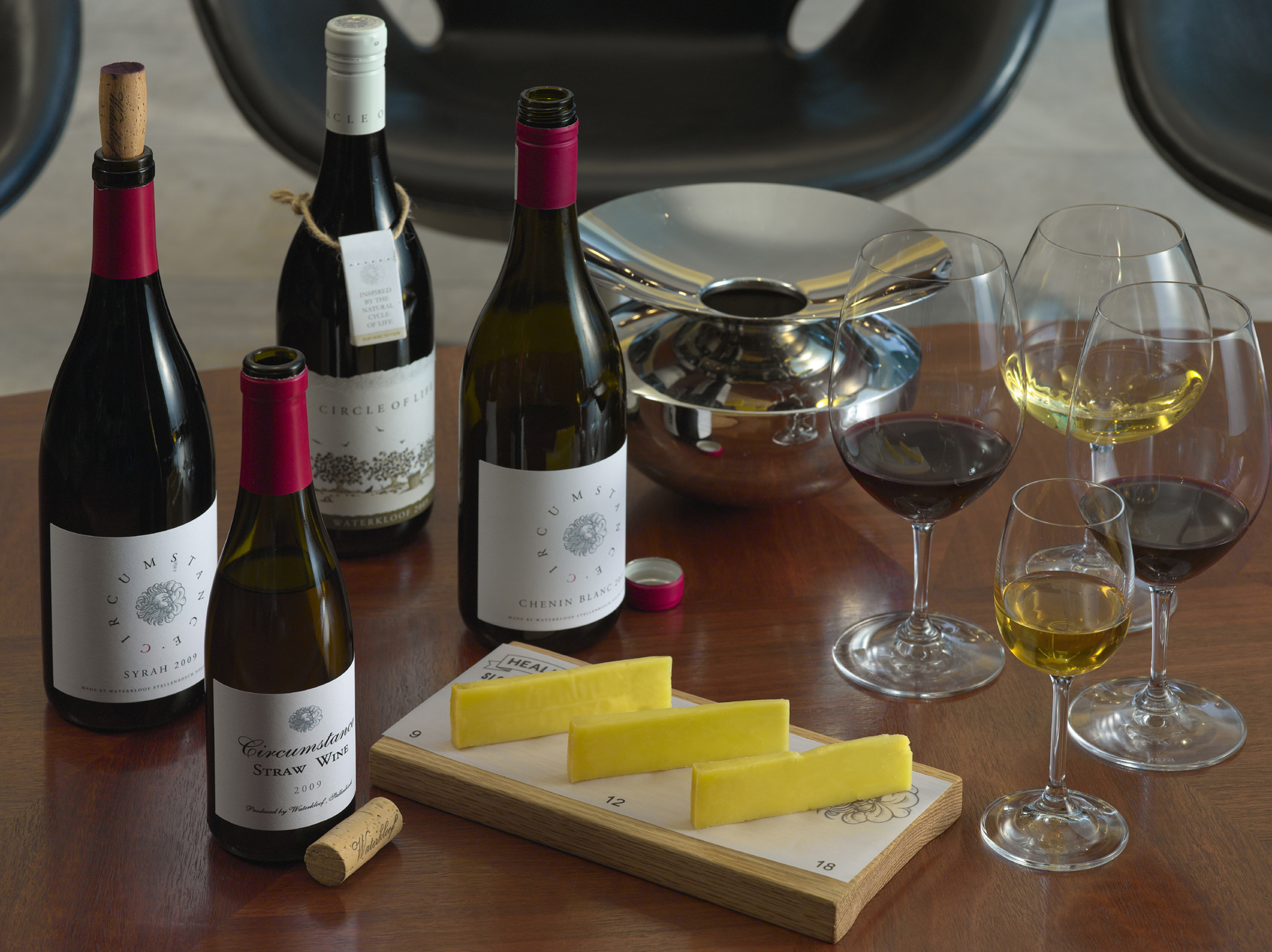 "<img alt=""wine and cheese tasting at Waterkloof Wine Estate"">"